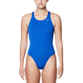 Nike Swim Poly Core Solid Fast Back Swimsuit Women blue